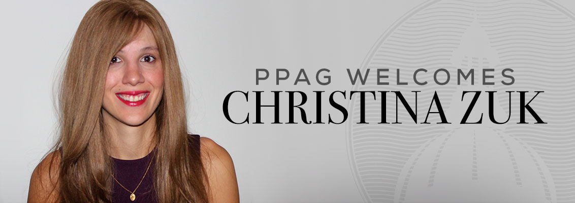 PPAG Welcomes Christina Zuk